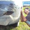 Memperbaiki Bumper Mobil Kijang Innova Lama yang Sobek