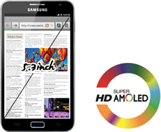 Spesifikasi HP Samsung Android Galaxy Note display