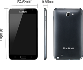 Spesifikasi HP Samsung Android Galaxy Note size