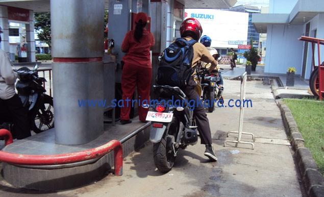 Konsumsi BBM (Bensin/Premium) Motor Byson, Gambar Ilustrasi Lokasi SPBU Jl. Kartini Bandar Lampung.