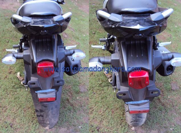 Modifikasi Yamaha Byson Bagian Belakang sebelum-sesudah dilihat dari belakang
