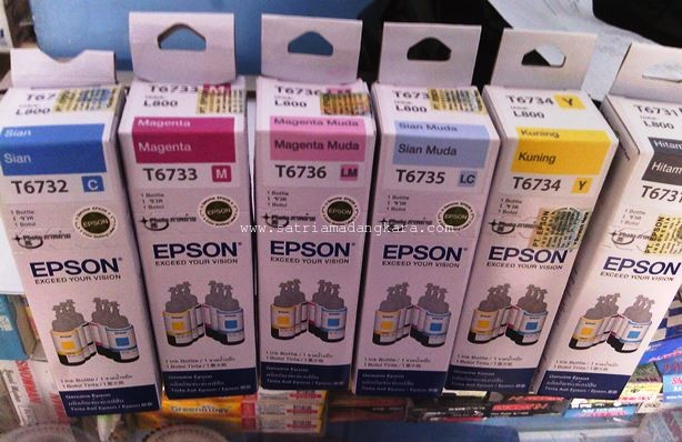 1 Set Tinta Printer Warna Epson L800