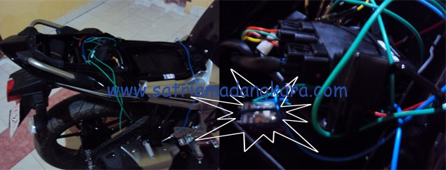 Sistem Pengaman Tambahan pada Byson, pada gambar yang saya tandai itulah alat pemutus arus otomatis, cukup disentuh akan menyambung secara otomatis.