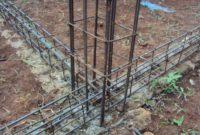 Proses Pekerjaan Pemasangan Besi Kolom Tiang Beton