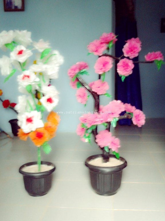 Contoh Bunga Plastik Kresek yang sudah jadi